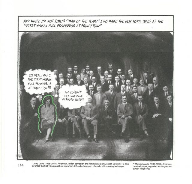 Photo of the faculty of Princeton, with Arendt outlined in green.