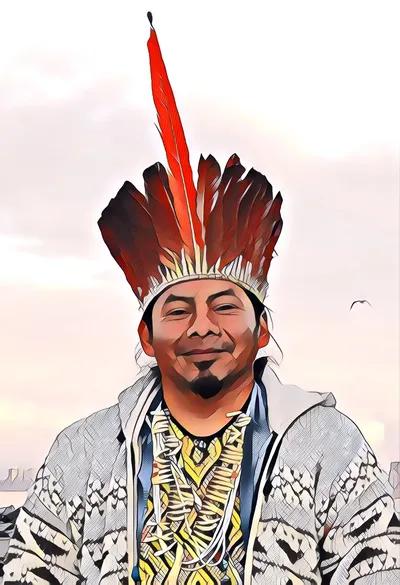 Digitized portrait of Chief Ninawa
